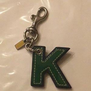 "Coach Accessories - Vintage Coach ""K"" key chain or charm"